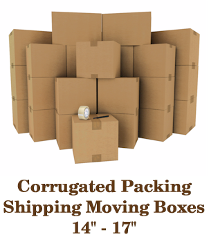 Corrugated Moving Packing Shipping Boxes 14 to 17