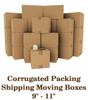 Corrugated Moving Packing Shipping Boxes 9 to 11