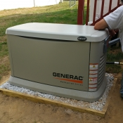 11 The generator is placed on top of crushed stone embraced by 2x4 pressure treated lumber