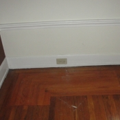 05 New outlets in the baseboard molding in the living room