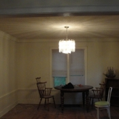12 The light fixture in the dining room