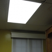19 Installed a new ballast and four T8 energy efficient lamps in a kitchen 2x4 fluorescent light fixture