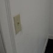 38 A new light switch for the light fixture in one of the second floor bedrooms