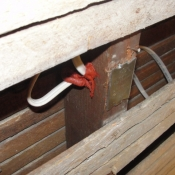 01-Fire stop caulking is placed in every electrical drilled hole to prevent the spread of a fire in the walls