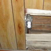 07-New box and outlet brought out to meet the sheetrock that will be covering the paneling