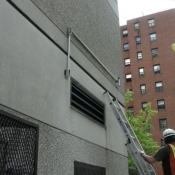 10 We run rigid pipe outside to a camera bracket for a video surveillance camera