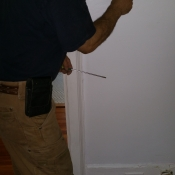 05-The replacement of a switch in an upstairs bedroom