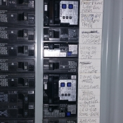 10 Marking the panel's directory so the homeowner will know which circuit breaker controls which item in the entire house