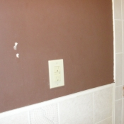 16 The new GFI outlet in the first floor bathroom