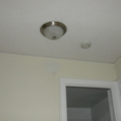 36 A new light fixture in the second floor hall for the three way switching system