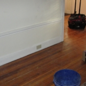 06 A picture of the new outlet and my tool bag in the living room