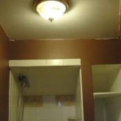 15 The light fixture in the first floor bathroom