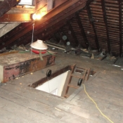 43 A new pull chain fixture in the attic