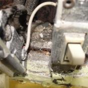11 A clear shot of two old switches in the kitchen fed by knob and tube wiring