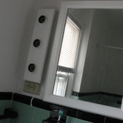 21 Second floor bathroom mirror lights and non GFI outlet