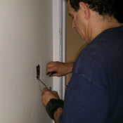 01-The running of new wires to a light switch