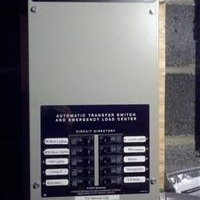 Typical critical circuit transfer switch installation