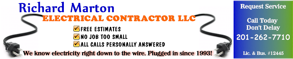 Richard Marton Electrician NJ Repairs Installations Generators